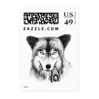 Wolf and Unlucky Little Guy Stamps