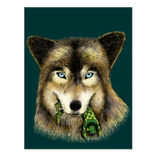 Wolf and Unlucky Little Guy Postcard