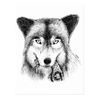 Wolf and Unlucky Little Guy Postcards