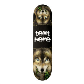 Wolf and Unlucky Little Guy Skateboard Deck