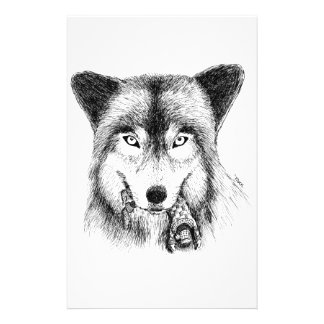 Wolf and Unlucky Little Guy Stationery Paper