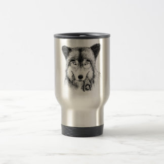 Wolf and Unlucky Little Guy Travel Mug