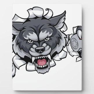 Wolf Animal Esports Gamer Mascot Plaque