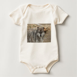 wolf animal face eyes canine forest zoo park romper