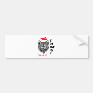 wolf-animal of to power bumper sticker