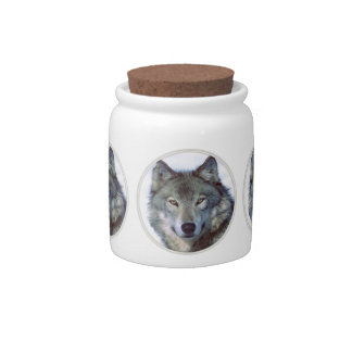 Wolf animal totem candy dishes