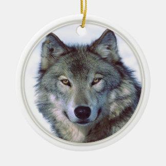 Wolf animal totem ceramic ornament