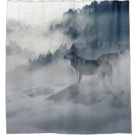 Wolf Animal Wildlife Art Shower Curtain