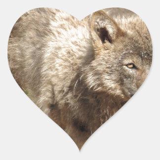 Wolf Animals Peace Love Nature Park Wolves Destiny Heart Sticker