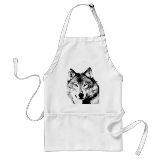 Wolf Adult Apron