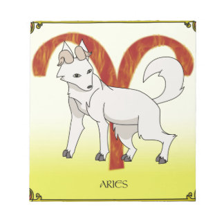 Wolf Aries Notepad