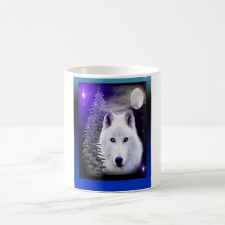 wolf art design coffee mug