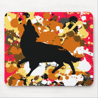 wolf art mouse pad