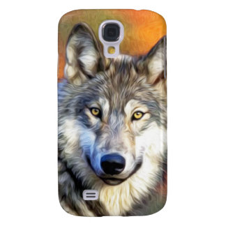 Wolf Art Painting Galaxy S4 Cases