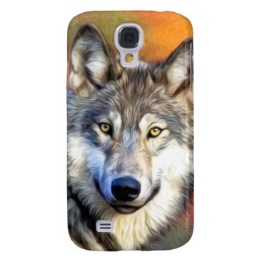 ironydesignphotos Wolf Art Painting Galaxy S4 Cover
