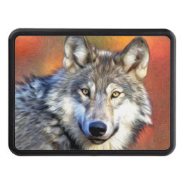 Wolf Art Painting Hitch Cover