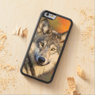 Wolf Art Painting Image Carved® Maple iPhone 6 Bumper Case