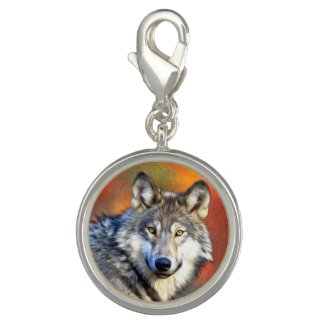 Wolf Art Painting Charms