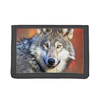 Wolf Art Painting Tri-fold Wallets