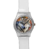 Wolf Art Painting Wristwatch