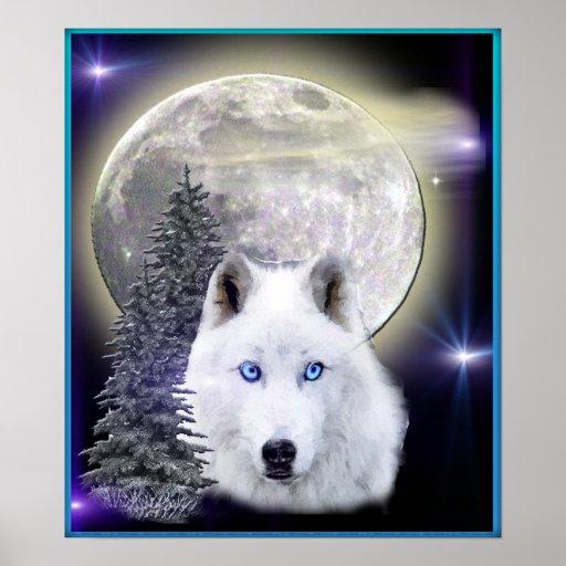 wolf art poster