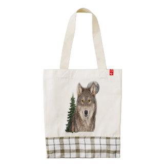 wolf art zazzle HEART tote bag