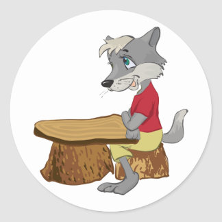 Wolf At A Table Stickers