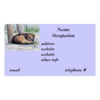 Wolf at Rest Art Card Business Card