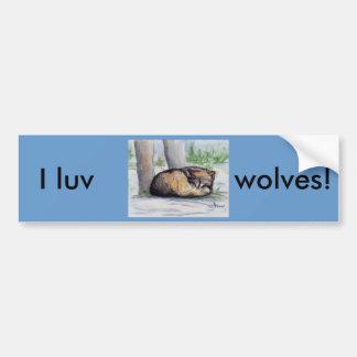 Wolf At Rest Bumper Sticker