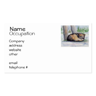 Wolf At Rest Business Card