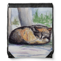 Wolf At Rest Drawstring Backpack