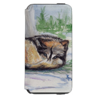 Wolf At Rest iPhone 6/6s Wallet Case
