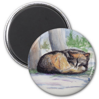 Wolf At Rest Magnet