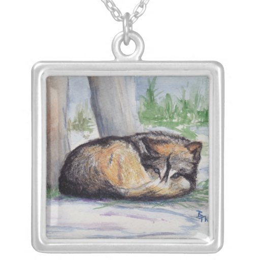 Wolf At Rest Necklade Jewelry