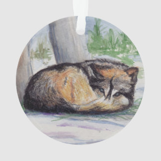 Wolf At Rest Ornament