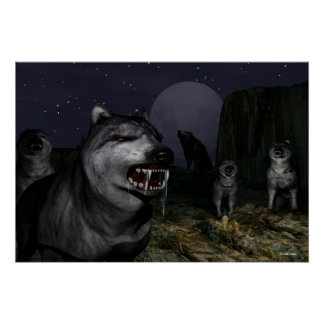 wolf attack poster