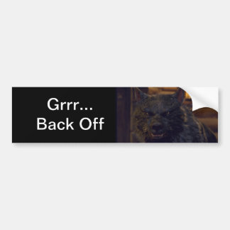 Wolf - Back Off Bumper Sticker