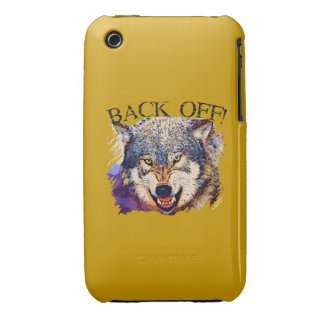 WOLF ... BACK OFF! iPhone 3 Case-Mate Case