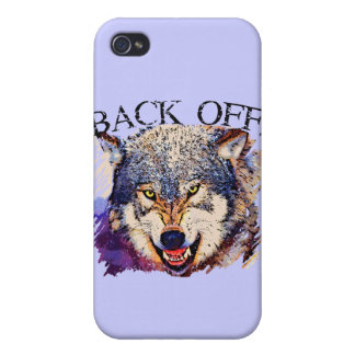 WOLF ... BACK OFF! iPhone 4 COVER