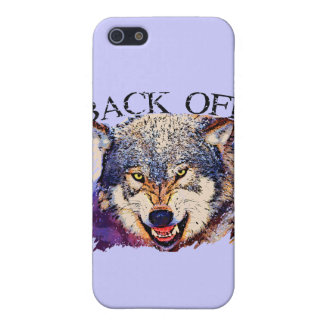 WOLF ... BACK OFF! iPhone 5/5S COVERS