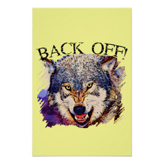 WOLF ... BACK OFF! Poster