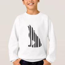 WOLF BAR CODE Howl Barcode Pattern Design Sweatshirt