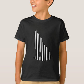 WOLF BAR CODE Howl Barcode Pattern Design T-Shirt