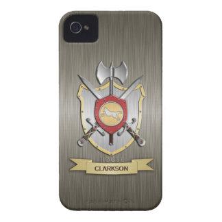 Wolf Battle Crest Sigil Armor iPhone 4 Case-Mate Case