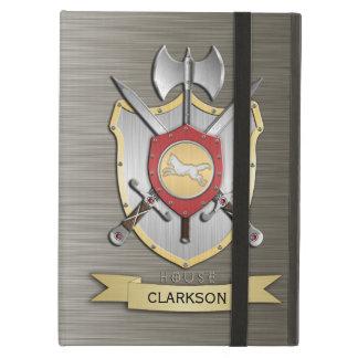 Wolf Battle Crest Sigil Armor iPad Cover