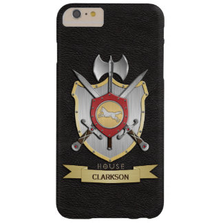 Wolf Battle Crest Sigil Black Barely There iPhone 6 Plus Case