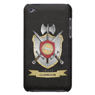 Wolf Battle Crest Sigil Black Barely There iPod Cover
