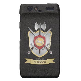 Wolf Battle Crest Sigil Black Motorola Droid RAZR Case