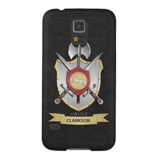 Wolf Battle Crest Sigil Black Galaxy S5 Case