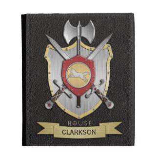Wolf Battle Crest Sigil Black iPad Cases